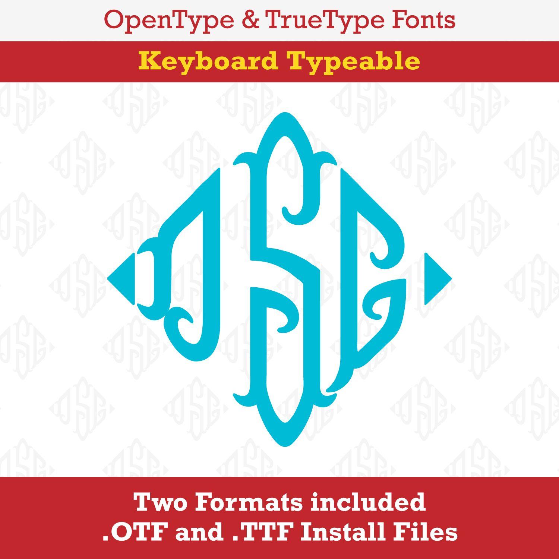 Monogram Ends TrueType Font Keyboard Typeable OTF TTF Install Files