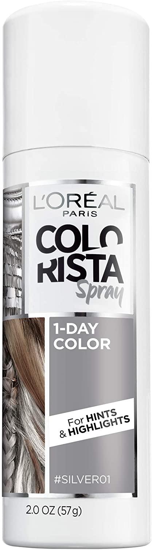 Amazon Com L Oreal Paris Hair Color Colorista 1 Day Spray Silver 2 Ounce Beauty Loreal Paris Loreal Hair Color