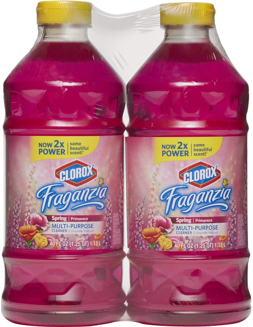 Clorox Fraganzia MultiPurpose Cleaner, Spring Scent, Two