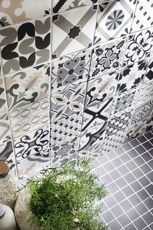 Carrelage Deco Noir Et Blanc Sol Et Mur Belle Epoque Vm Carreaux Mosaique Deco Noir Et Blanc Carreau De Ciment Carrelage