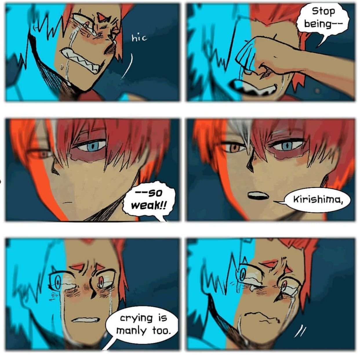 Lol This Totally Should Ve Happened Especially Considering What Todoroki Said You Deku About Hero S Needing To Cry Kiris Hero My Hero My Hero Academia Memes