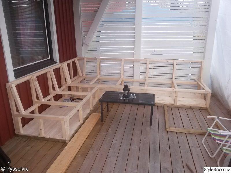 Råspont,platsbyggd Soffa Platsbyggd Soffa Pinterest Möbler, Balkong Och Uterum