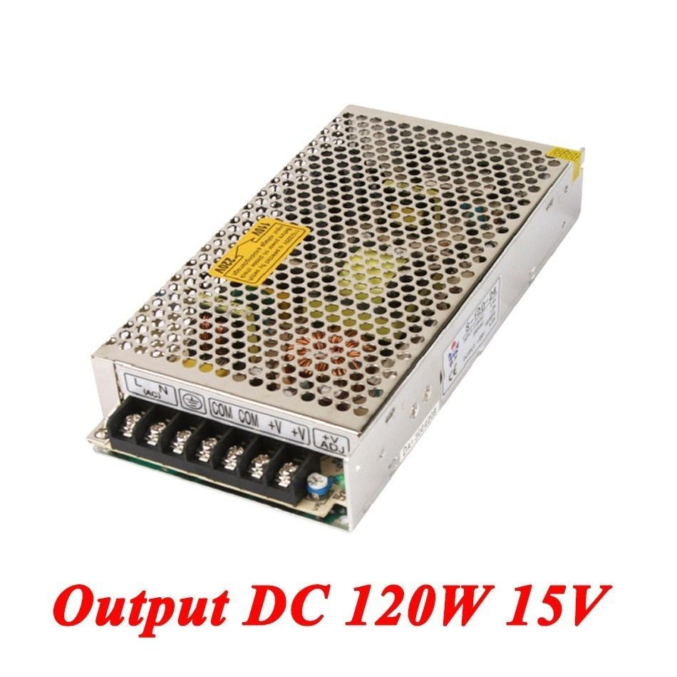 Switching power supply 120W 15v 8A,Single Output smps power supply ...