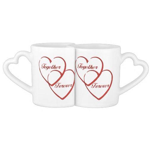 Love Hearts Mugs Couple Mugs