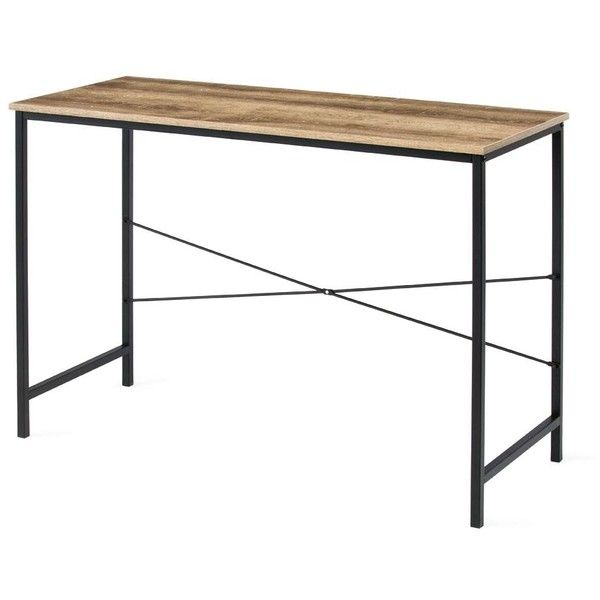 Industrial Essential Desk Kmart 30 Liked On Polyvore Featuring Home Furniture Desks Industrial F Furniture Home Office Furniture Industrial Furniture