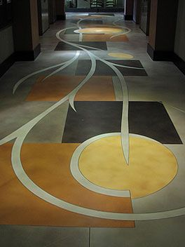 Beautiful Hallway Displays Advanced Stained Concrete