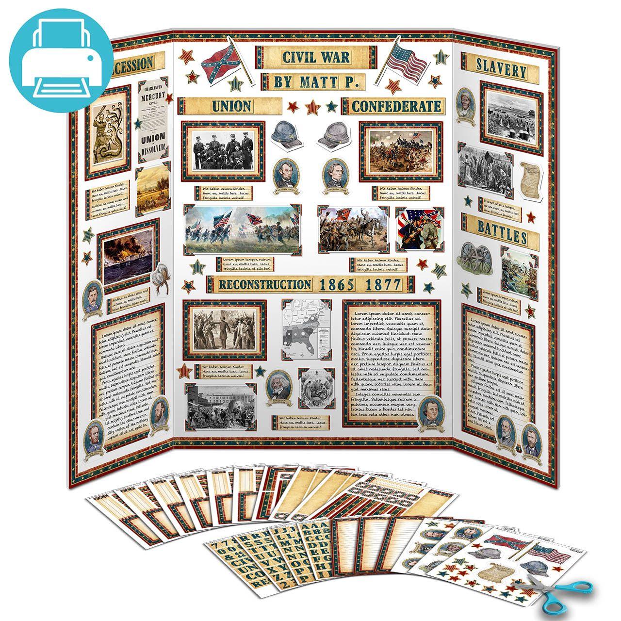 American Civil War Project Kit | School Project Printables ...