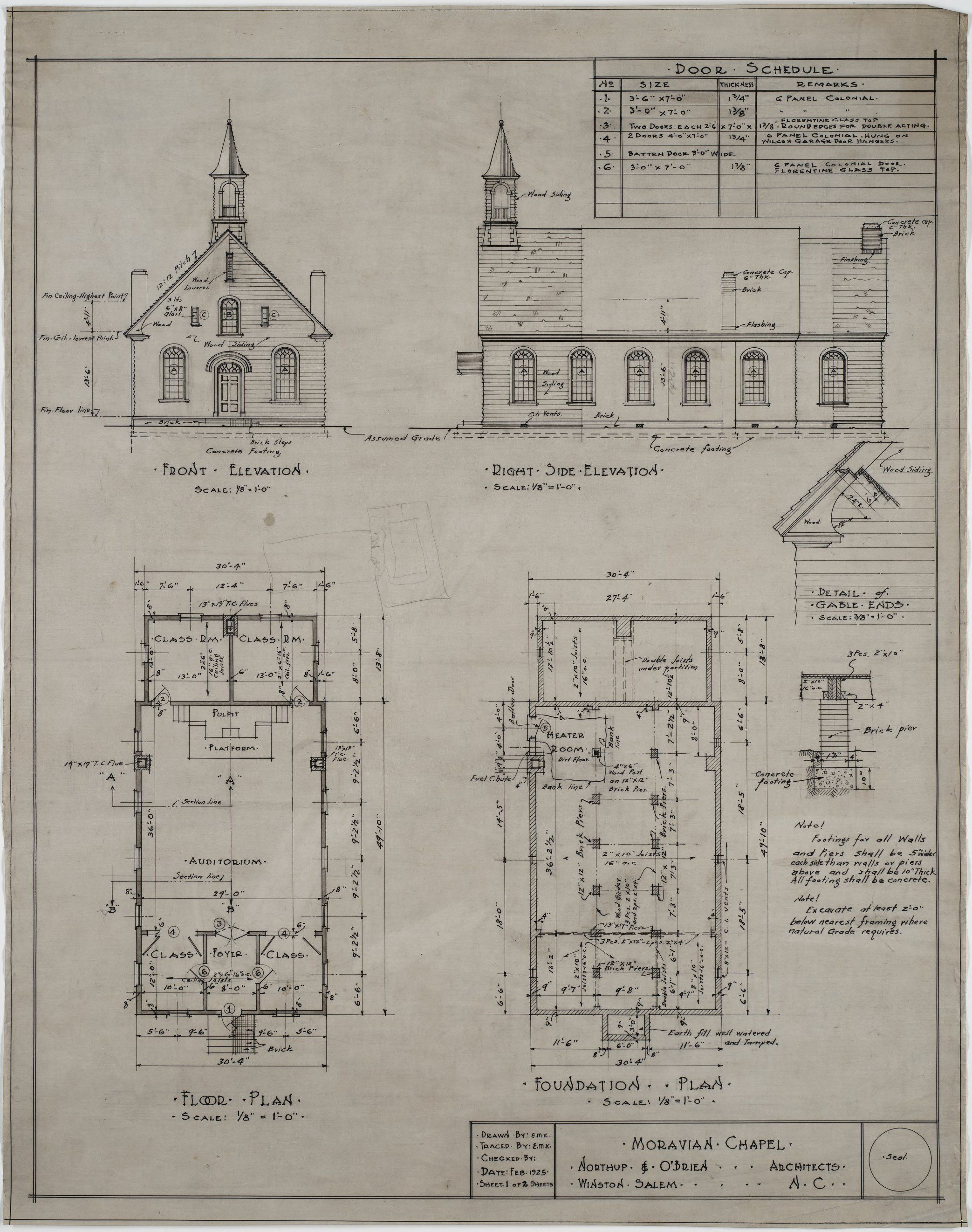Front Elevation Right Side Elevation Floor Plan Foundation Plan Front Elevation Floor Plans How To Plan