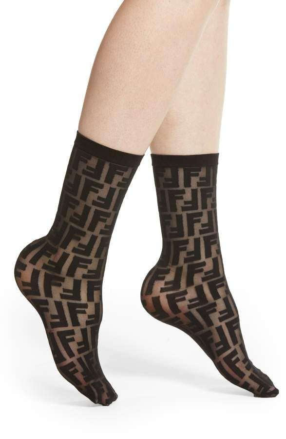 32b3b092c7539 Fendi Double F Logo Crew Socks in 2019 | accessories | Fendi ...