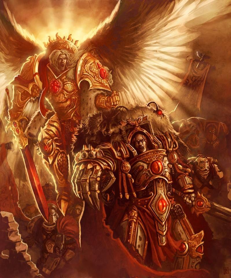 Warhammer 40k Blood Angels: Primarch Of The Blood Angels, Sanguinius, Alongside Horus