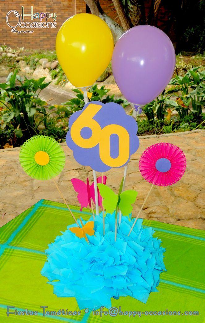 Centro de mesa fiestas para - Decoracion cumpleanos adultos 60 anos ...