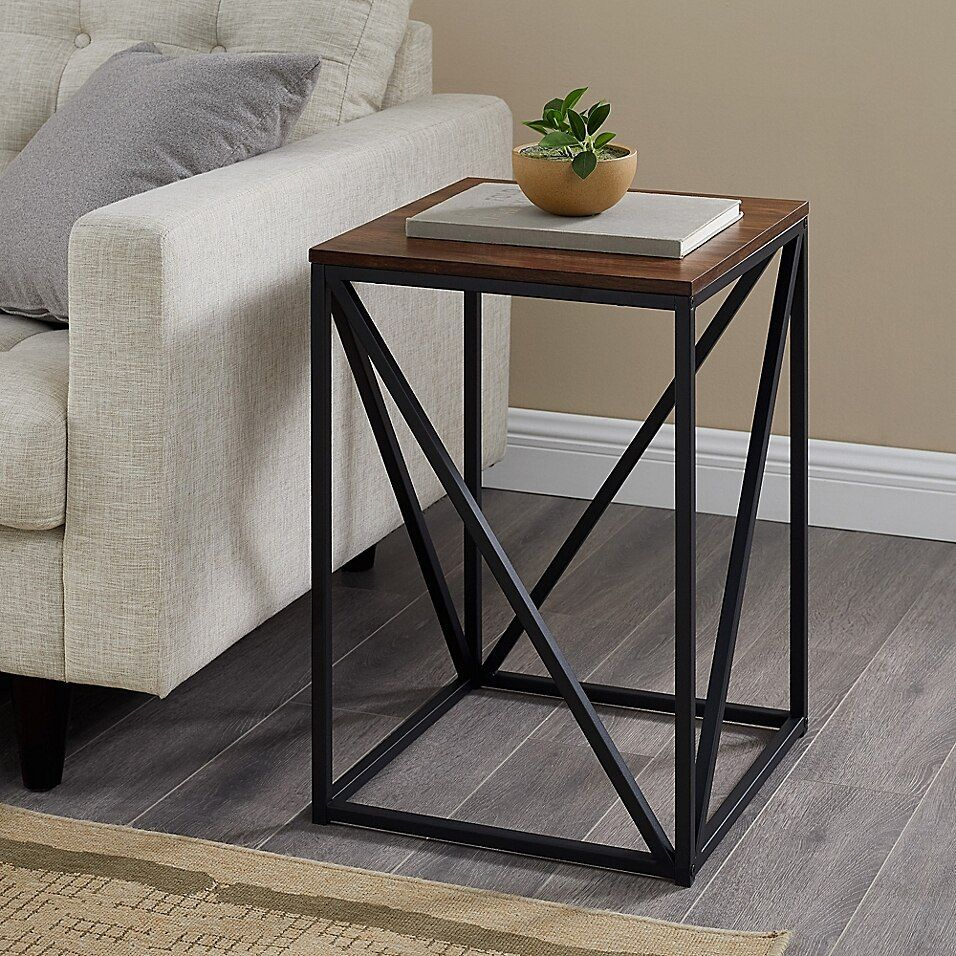 Forest Gate Veronica 16 Inch Square End Table Bed Bath Beyond Table Decor Living Room Living Room Side Table Side Table Decor End table vs side table