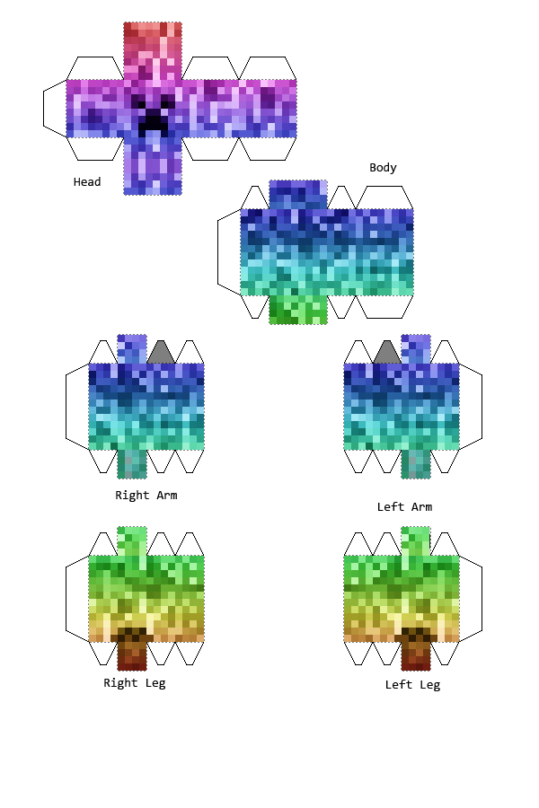 Life Size Jenga >> creeper bouwplaat | Papercraft Minecraft Creeper | Bcreative (with child'ren) | Minecraft ...