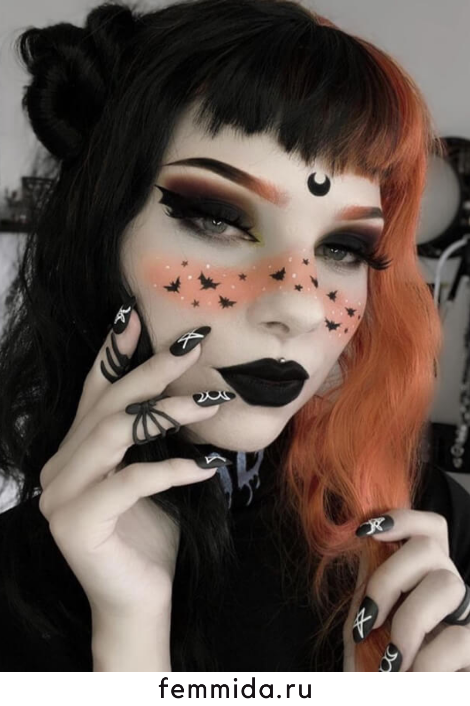Photo of Красивый макияж на Хэллоуин 32 фото:  жутко красиво!