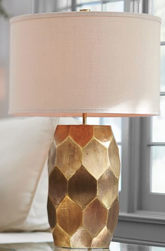 Pretty Gold Base Lamp Table Lamp Base Pottery Barn Floor Lamps