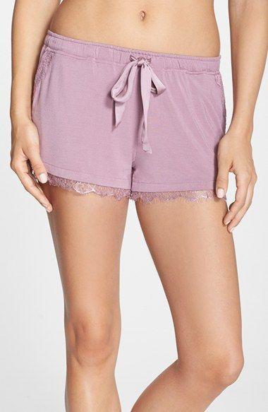 Women's PJ Luxe Lace Trim Shorts