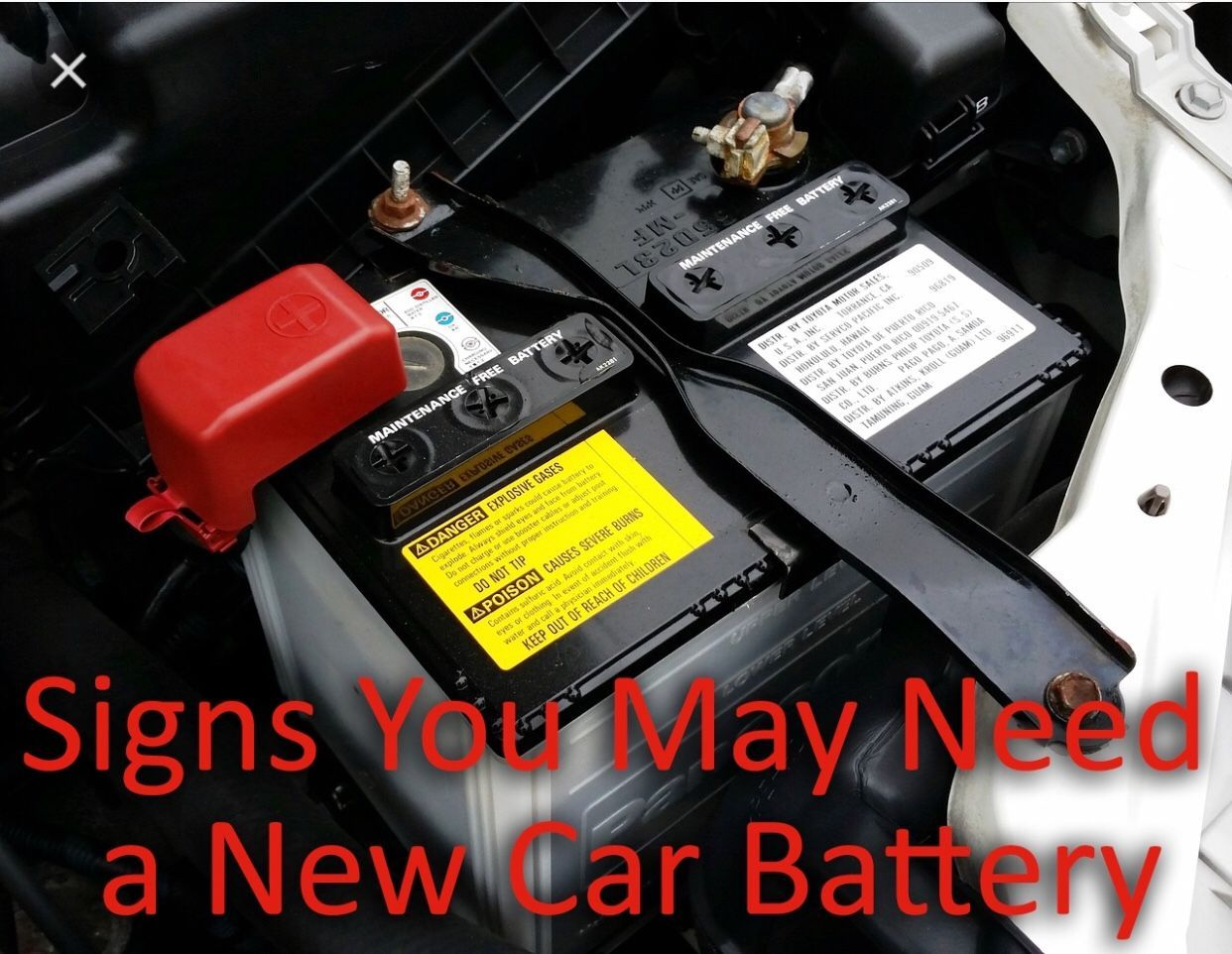 Free Car Battery Installation For The Month Of January If You Buy A