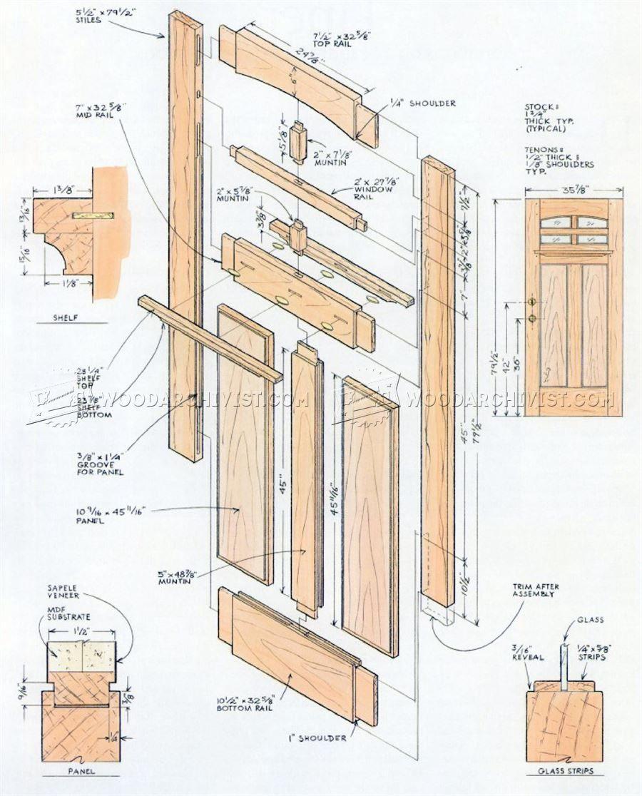 914 Front Door Plans Door Construction Woodworking