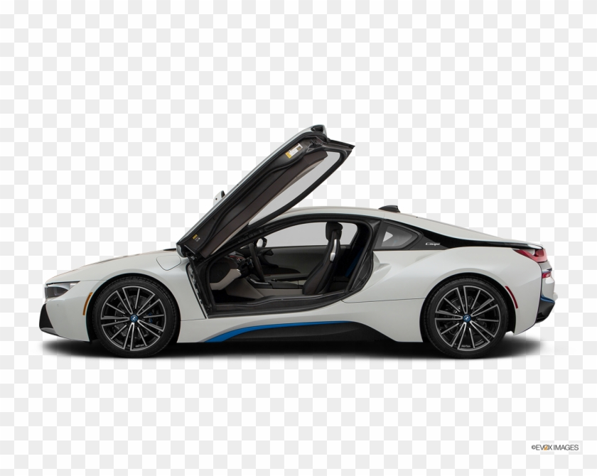 Side View Of The Bmw I8 White Bmw I8 Coupe Hd Png Download Bmw I8 Bmw Coupe