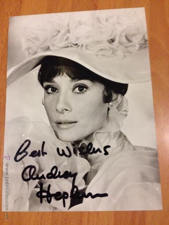 Foto con autógrafo de Audrey Hepburn