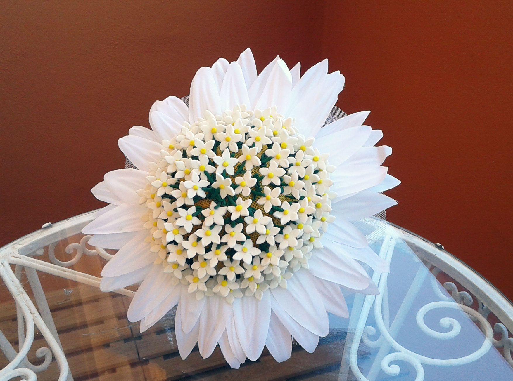 Bouquet de margarita alfileres de novia hechos a mano de - Cojines hechos a mano ...