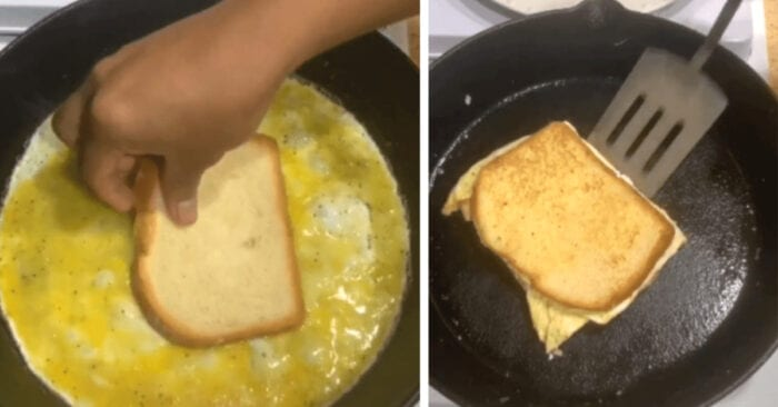 This Egg Sandwich Is Going Viral On Tiktok And I See Why Egg Sandwiches Egg Sandwich Recipe Fried Egg Sandwich