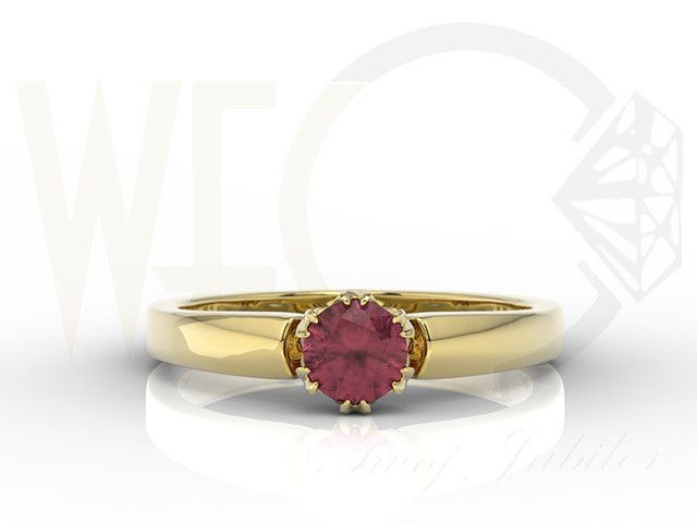 Pierścionek z żółtego złota z rubinem / Ring made from yellow gold with a ruby / 836 PLN #jewellery #jewelry #gold #ring #ruby  #bizuteria #zloto #rubin #engagement_ring