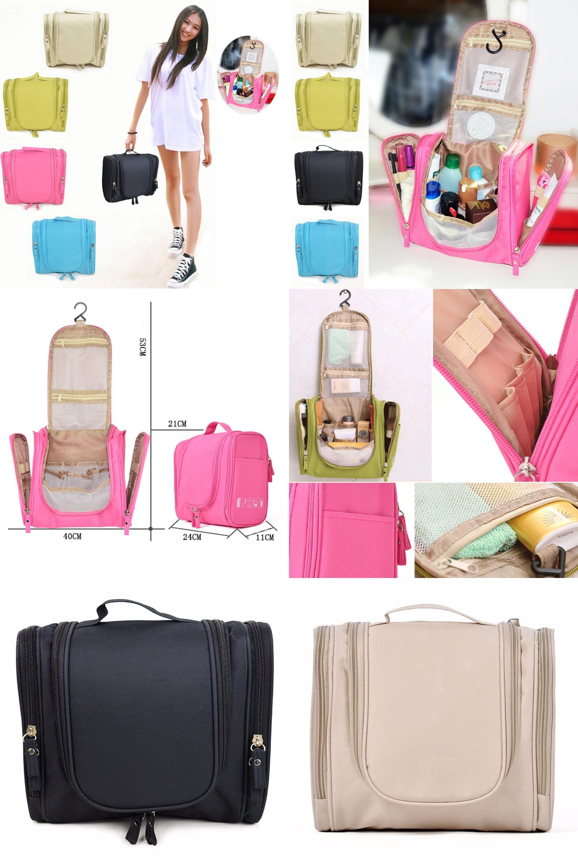 Visit to Buy  Woman Toiletry Makeup Kit Bag Storage Waterproof Cosmetic Bag  Picnic Wash 276f1ed71b