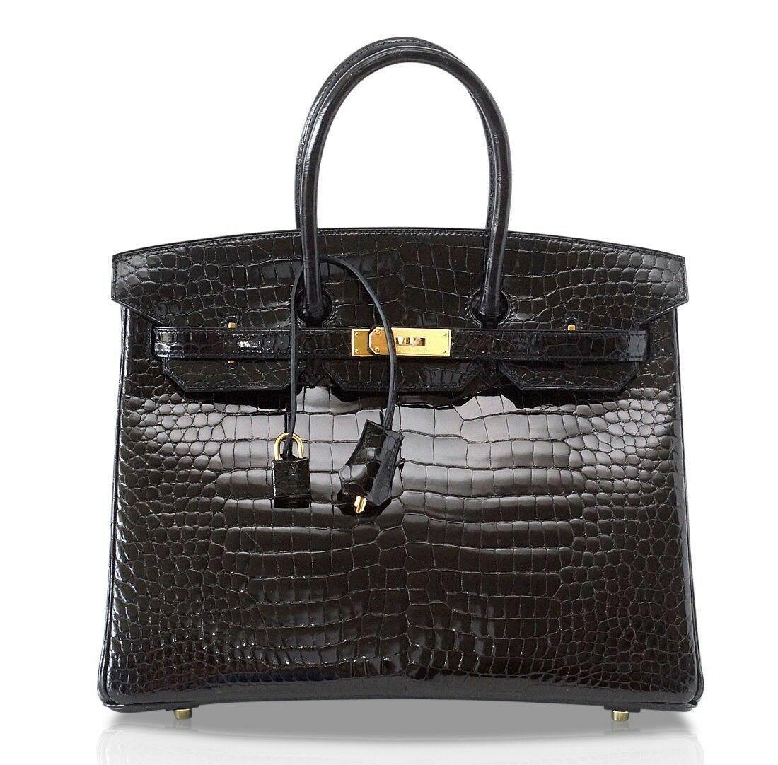 Hermes Birkin Bag Black Crocodile