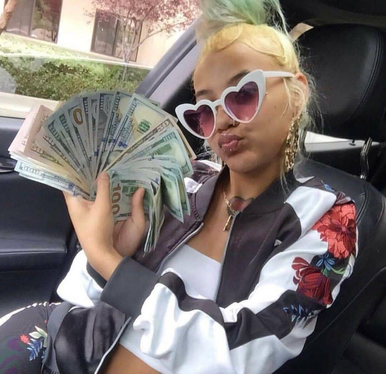 Instagram kibluebaby Gangsta girl, Thug girl, Money