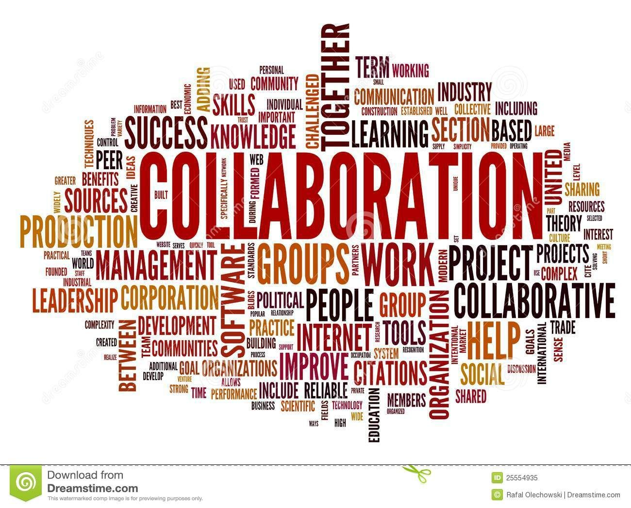 Collaboration Concept In Word Tag Cloud Download From Over 41