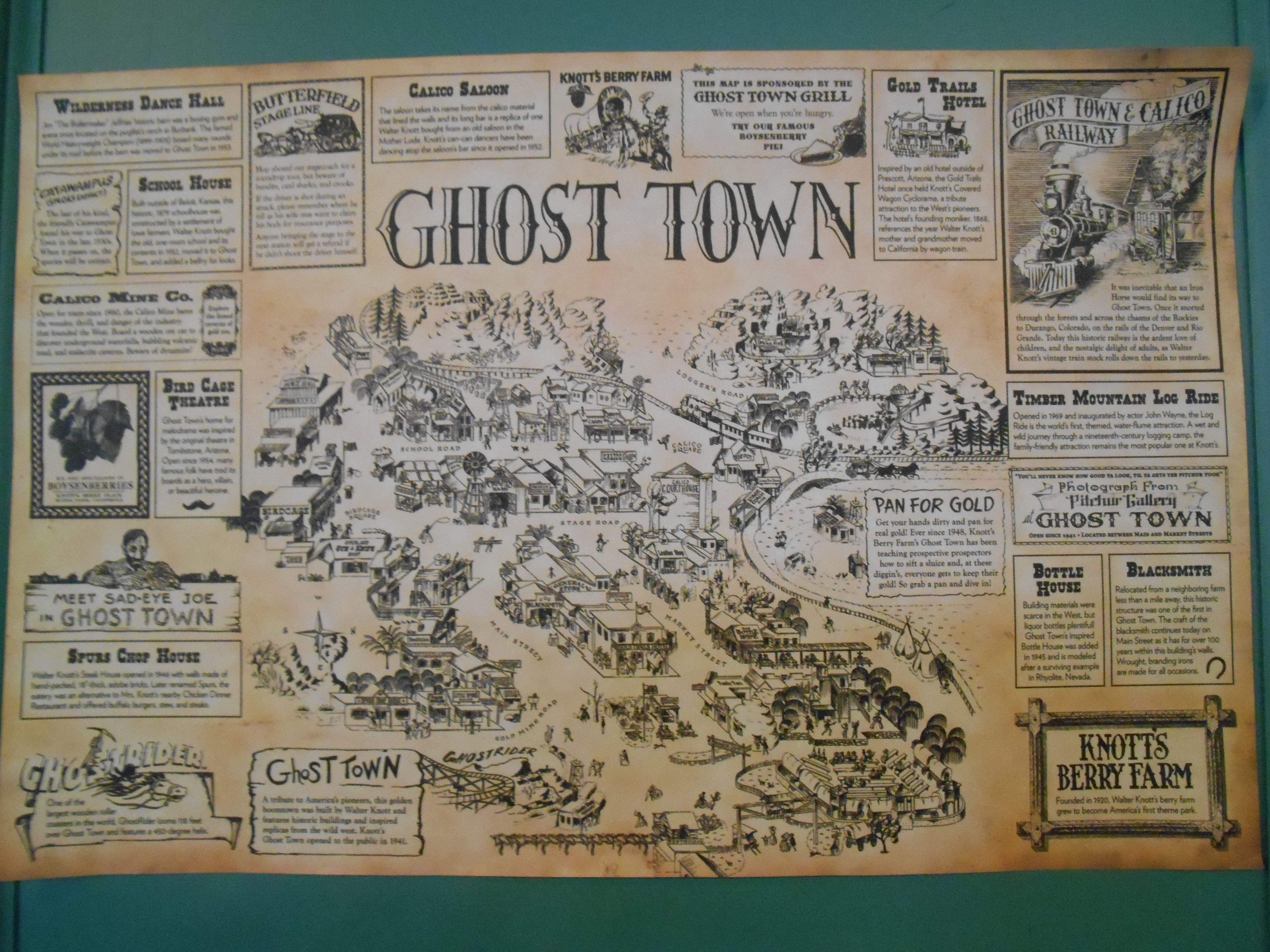 Map of Ghost Town in Knott's Berry Farm. | Photos from the ... Knotts Berry Farm Map on usc map, knott's map, kings island map, amtrak map, six flags map, buena park map, chino hills state park map, cedar point map, disneyland map, dollywood map, disney map, hersheypark map, universal studios map, dorney park map, great america map, santa monica map, los angeles map, san diego map, university of southern california map, sesame place map,
