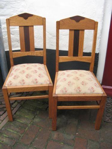 Verwonderend 2x eetkamerstoel Amsterdamse school Art Deco stoel antiek WU-04