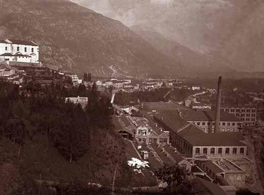 Before the bombardment. Cartiere di Arsiero prima del bombardamento, Italy WW1.