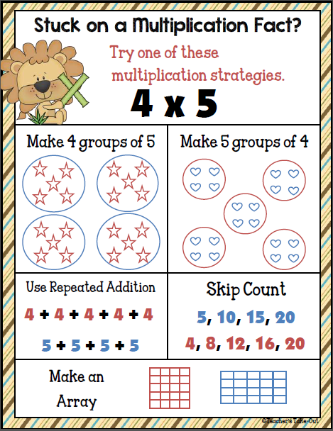 free math worksheets multiplication facts