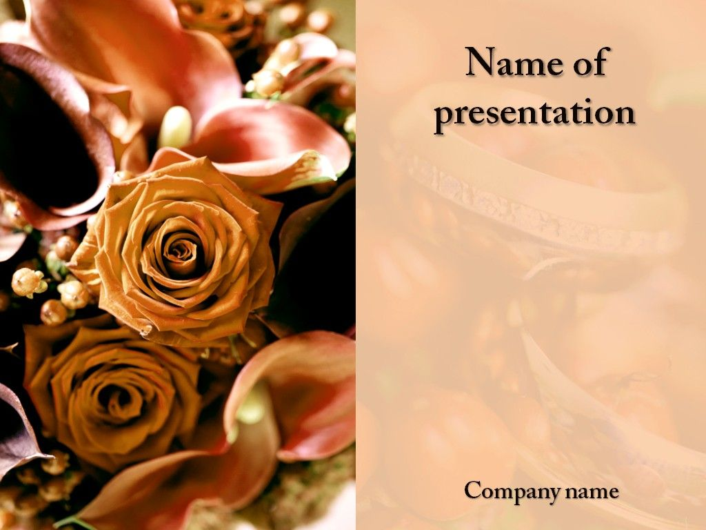 Wedding Celebration PowerPoint Template