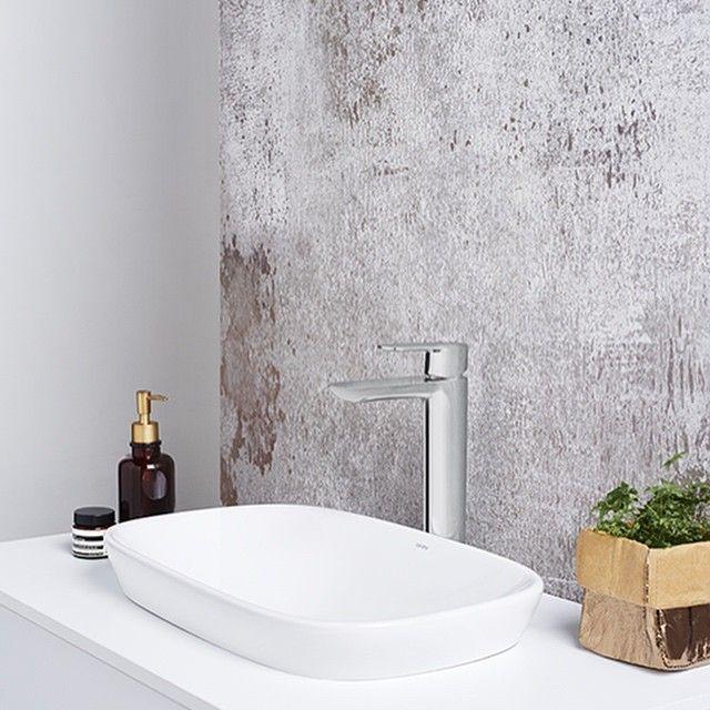 Caroma Contura Tower Basin Mixer U0026 Contura 530 Inset Basin #caroma  #bathroomvanitiesandbasins