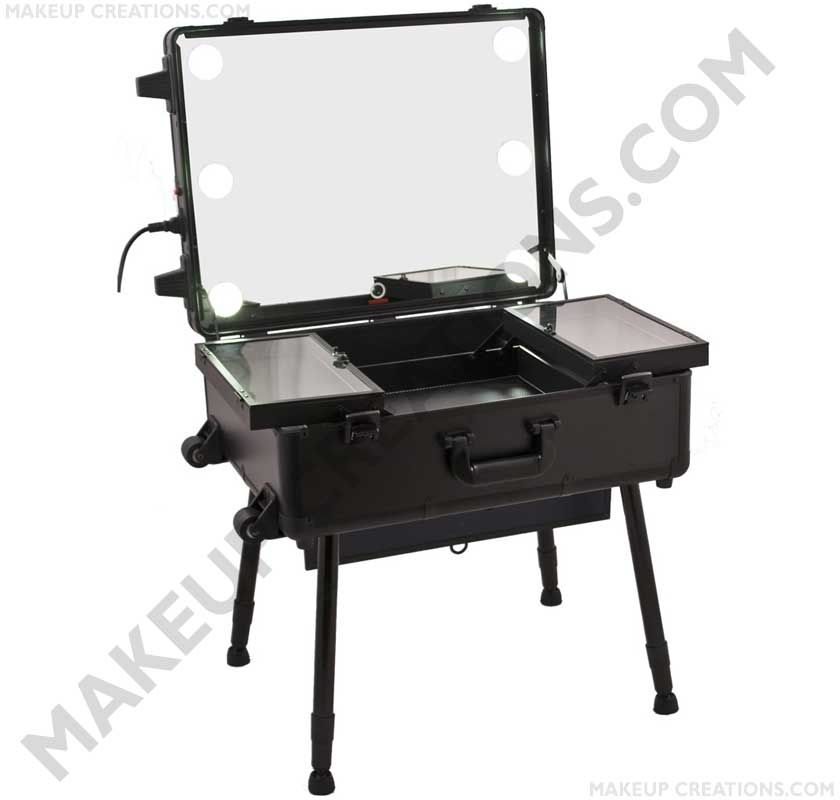 New Design! Portable Lighted Makeup Station with Large Mirror and Cool LED - $589.00  #Beauty #Makeup #MakeupArtist