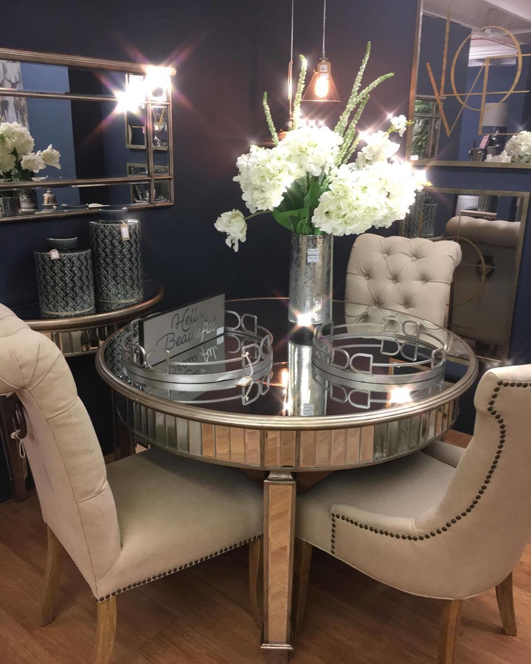 The The Belfry Collection Grand Mirrored Dining Table