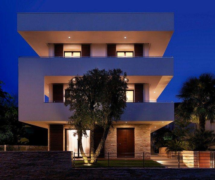 Resultado de imagen para casas modernas 3 pisos casas for Fachadas de casas modernas en italia