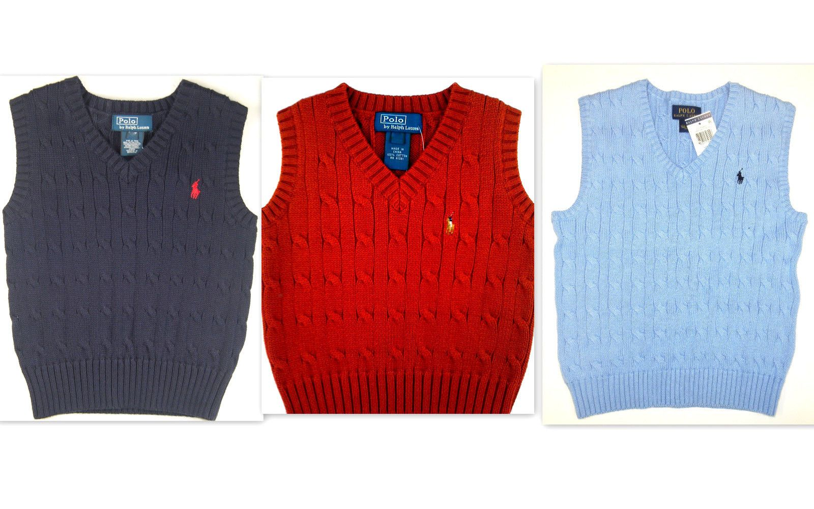 Sweaters 51946: Polo Ralph Lauren Boys Size 6 Kids Sweater Vest ...