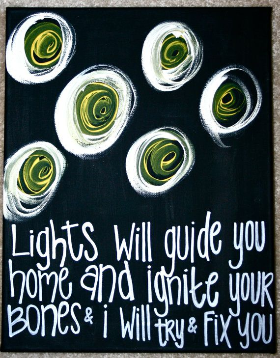 """11x14 """"Fix You"""" Painting."""