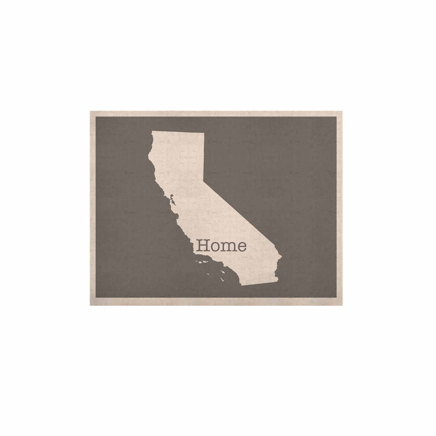 """Bruce Stanfield """"California Is Home"""" Gray White KESS Naturals Canvas (Frame not Included)"""