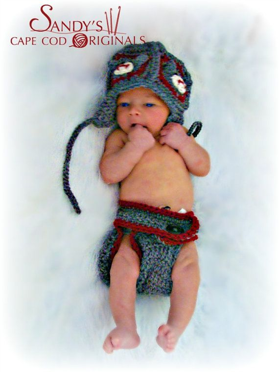 Motif Sock Monkey Hat And Diaper Cover By Sandyscapecodorig 495