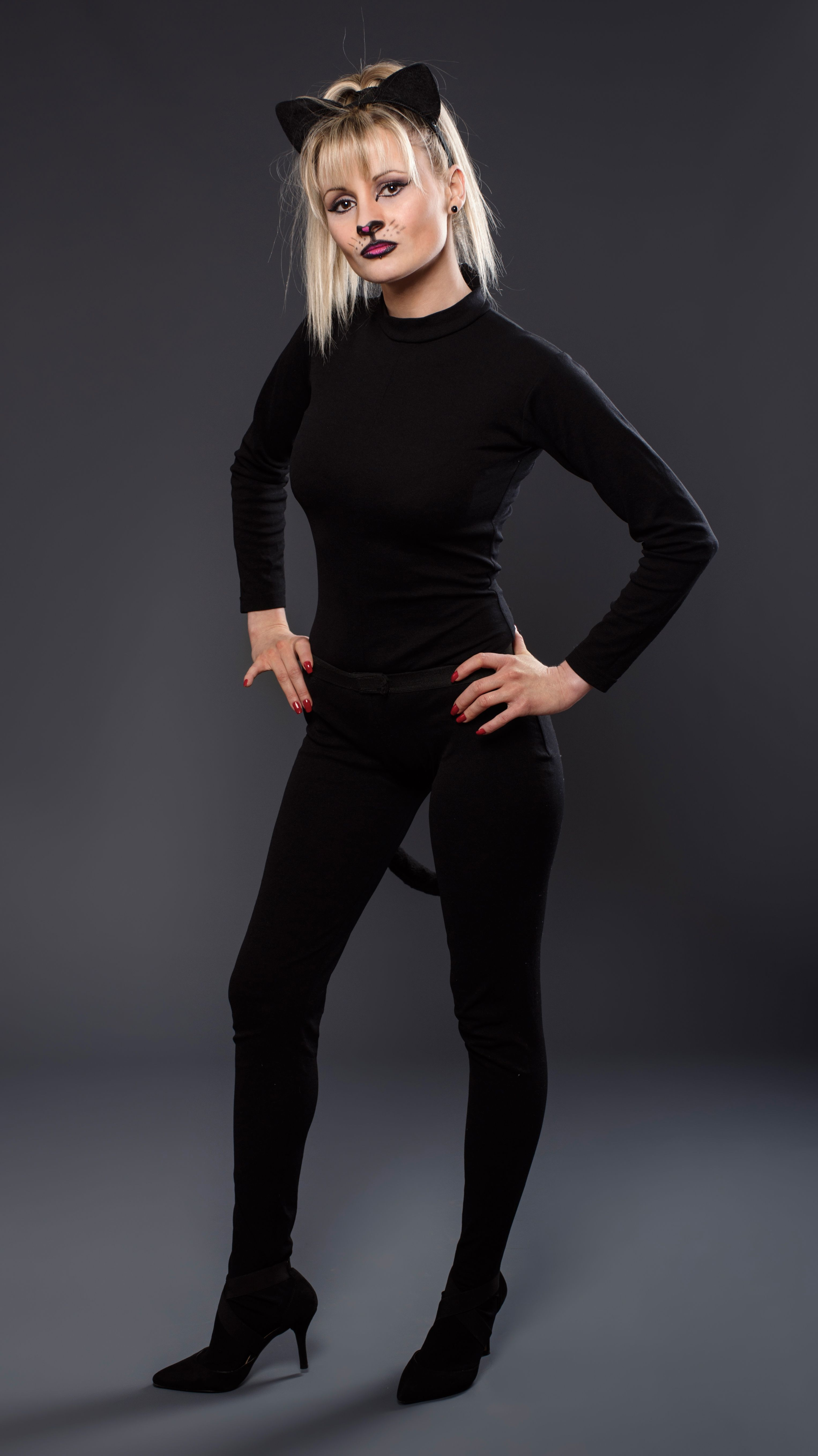 DIY Black Cat Costume for Women (Using Clothes from Your