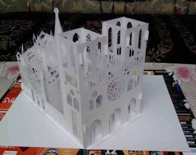 Robert Sabuda Pop Up Template Kirigami Gree\u2026 PAPER - Box