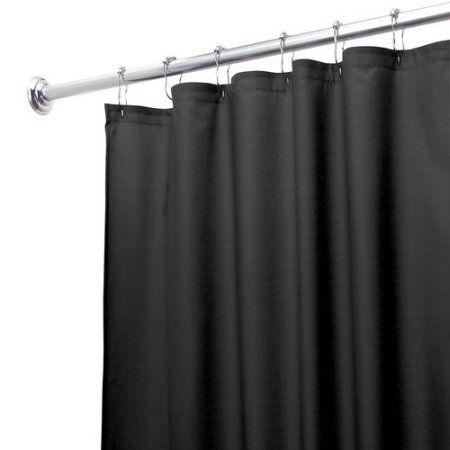 Waterproof Shower Curtain Or Liner Black