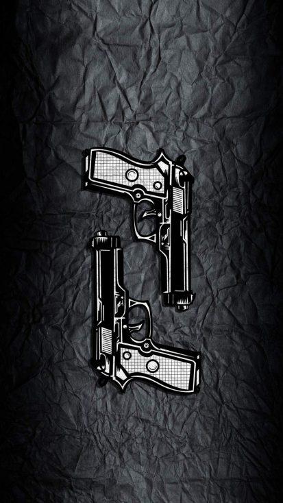 Guns Art IPhone Wallpaper - IPhone Wallpapers