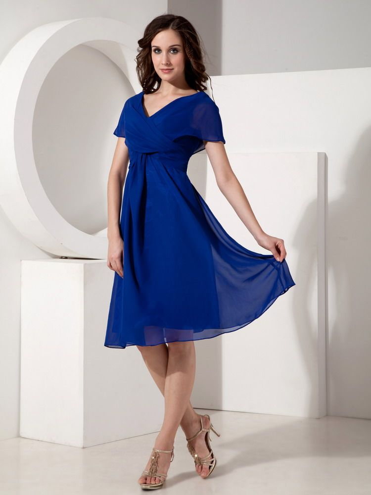 Mother Of The Bride Dresses For Beach Weddings Neck Royal Blue Dress Wedding