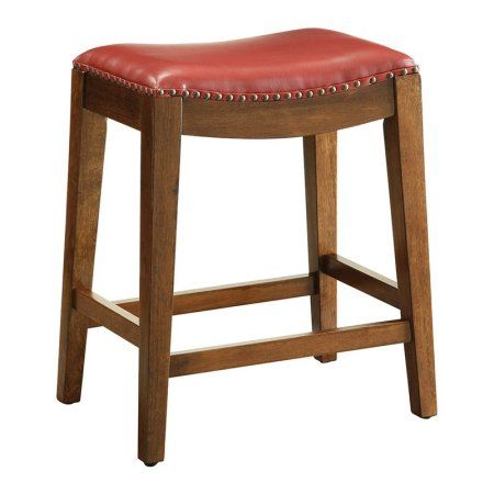 Osp Designs Metro 24 Inch Saddle Stool With Nail Head Accents And